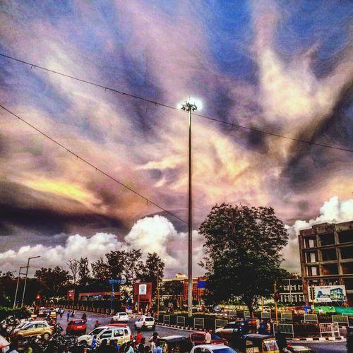 Evening clouds Street Light Street City Cloud - Sky First Eyeem Photo