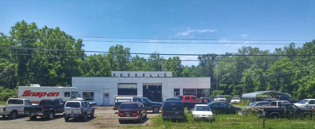 Athens Hocking Hills Rural America Auto Repair Rurex Rural Photography Ohio Small Town Blue Sky Outdoor Building Building Exterior Cars