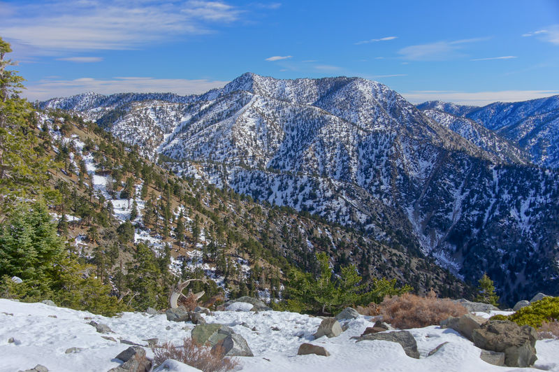 Winter views of mt baldy, in san gabriel mountains of san bernardino county in southern california