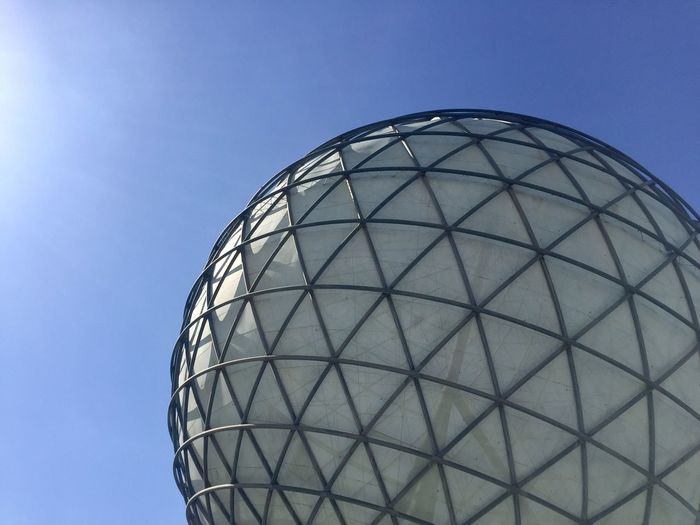 Sky Built Structure Low Angle View Architecture Nature Building Exterior No People Clear Sky Pattern Day Modern Blue Geometric Shape Sunlight Shape Design Sphere Metal Outdoors Circle The Architect - 2019 EyeEm Awards