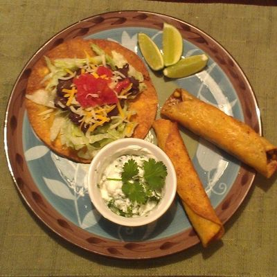 Blackbean Tostadas Flautas Taquitos mexican homecooking