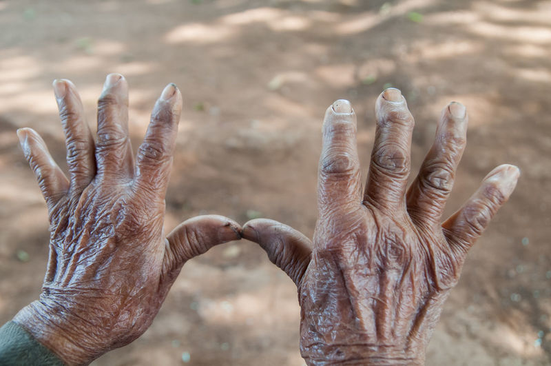 Focus On Foreground Human Body Part Close-up Human Hand Body Part Nature Animals In The Wild Animal Wildlife Hand Outdoors Finger Human Finger Group Of Animals Real People Dirt People Fingers