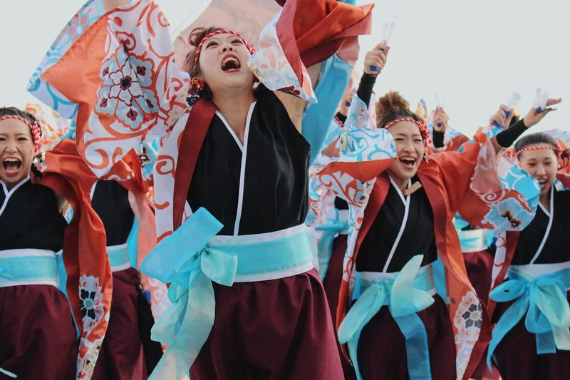 Festival Dance Group Of People Celebration Men Happiness Standing Togetherness Adult Women Emotion Cheerful