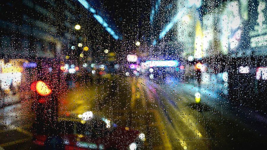 on the Tram Rain. HongKong Discoverhongkong Nightphotography Rain Tram Streetphotography Leica Leicaq 香港 夜景 Pmg_hok