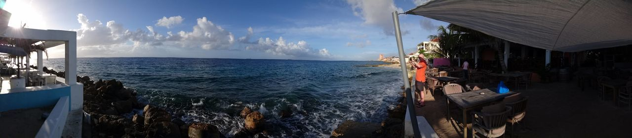 EyeEm Selects Water Sea Nautical Vessel Cloud - Sky Vacations Travel Destinations Beach Panoramic Outdoors Sky Architecture Day Nature No People Sommergefühle (c) 2017 Shangita Bose All Rights Reserved Curacao Otrabanda