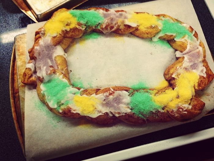 Today's accomplishment: I learned how to make a kingcake in Home Ec. Food Southern Cooking KingCake  Mardigras2k13
