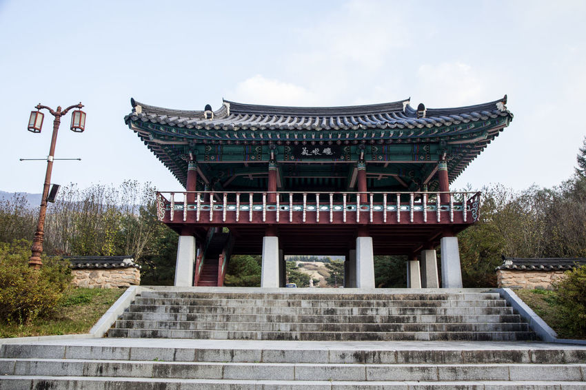 Nongae Birth Place, Jangsugun, Jeonlabukdo, South Korea Architecture Autumn Autumn Colors Built Structure City Cultures Day Fall Fall Beauty History House Korean Traditional Architecture No People Outdoors Sky Stairway Street Lamp Travel Travel Destinations