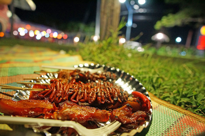 Food Plate Close-up Meat Road Side Filipino Food Philippines Food Park Food Bazaar Outdoors Nightlife Street Food