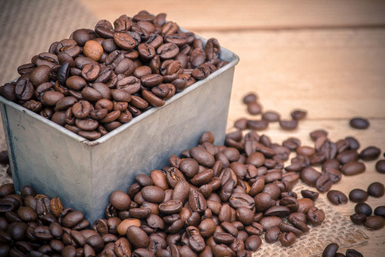 Brown Close-up Coffee Bean Coffee Crop Dried Fruit Food Food And Drink Freshness Healthy Eating Large Group Of Objects No People Raw Coffee Bean Roasted Coffee Bean Seed