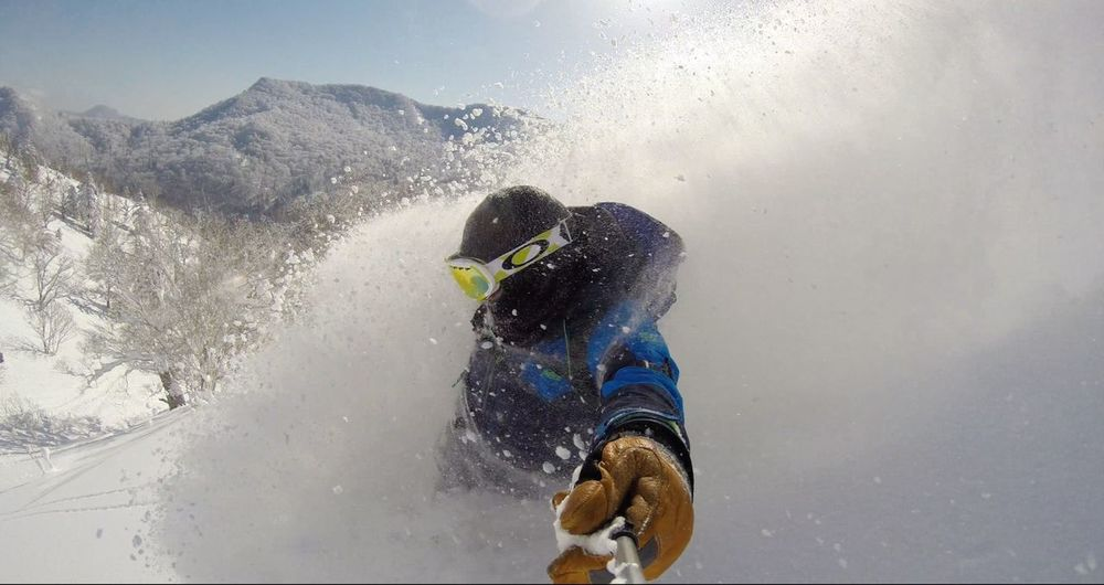 Snowboarding Powder Backcountry Splitboard Winter Share Your Adventure Japan Jonessnowboards The Action Photographer - 2015 EyeEm Awards Adrenaline Junkie