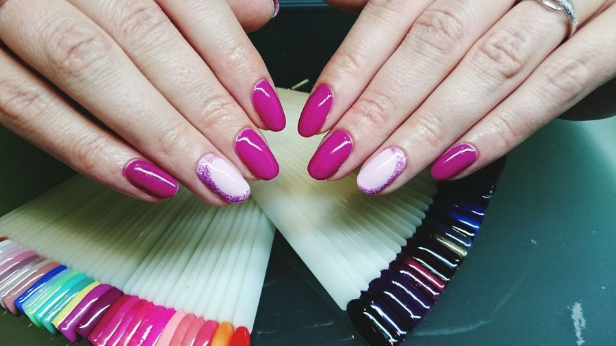 Nail Polish Human Body Part Human Hand Adults Only Fingernail Pink Color Manicure Only Women One Woman Only Adult Close-up Beauty Red Nail Polish Purple Females Women People Fashion One Person Nail Art Fashion Photography Naildesign Nailpolish Lush - Description Painting Fingernails