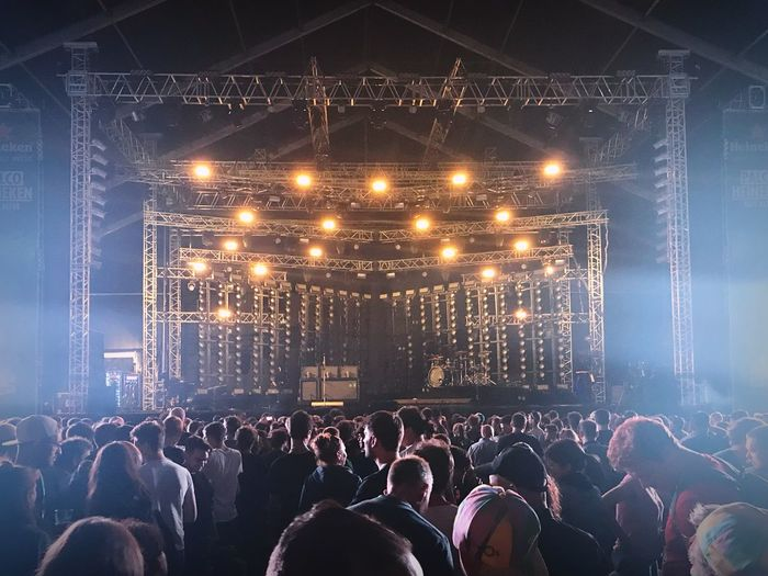 Gig Large Group Of People Illuminated Crowd Lighting Equipment Night Real People Men Arts Culture And Entertainment Performance Music Event Fun Enjoyment Audience Women Popular Music Concert Stage Light Youth Culture Indoors  Technology Stage Gig Festival Sommergefühle
