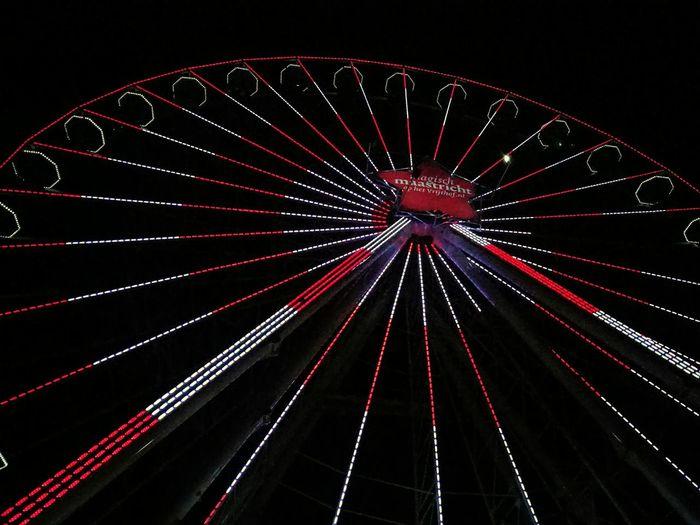 Ferris Wheel Low Angle View Night Amusement Park Sky Illuminated Outdoors Amusement Park Ride Christmas Decoration Christmas EyeEmNewHere