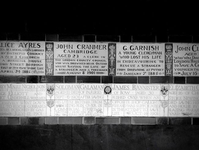 The Memorial of Heroic Self Sacrifice, London.