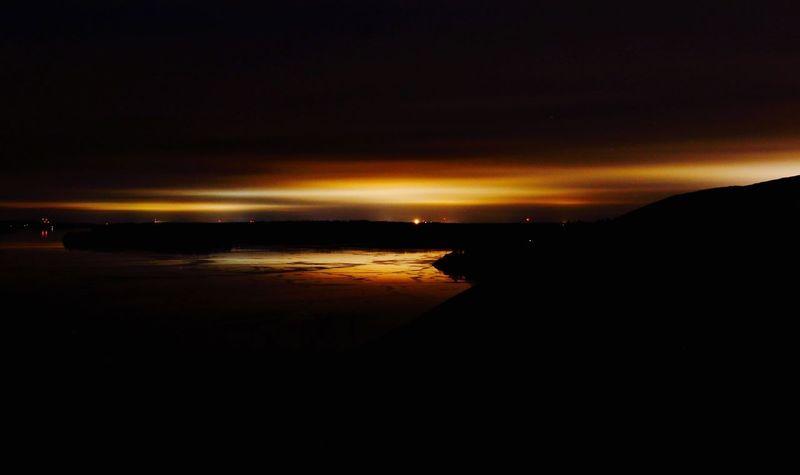 Gåseborg Järfälla Nightphotography Nature Water Sky Silhouette
