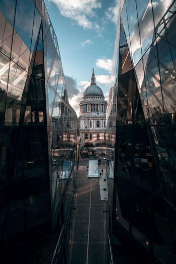 View of buildings in london city against sky