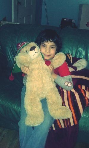 Childhood Teddy Bear Indoors  my Son Christmas Gift.