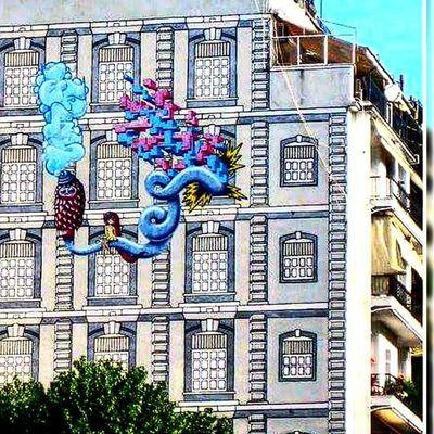 Thessaloniki Θεσσαλονίκη Solun Salonika Greece VisitGreece Instagreece Greecestagram White City Whitecity Graffiti Graffitiart Wallart Streetart Streetofthessaloniki Instagraffiti Instagraffitiart Beautiful Cityart
