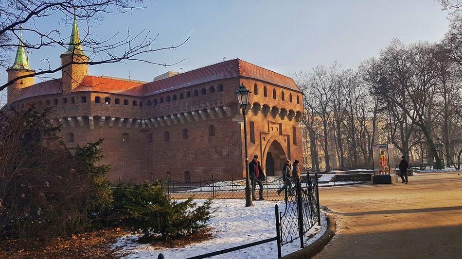 Krakow Krakow,Poland Poland Barbacan Park Winter