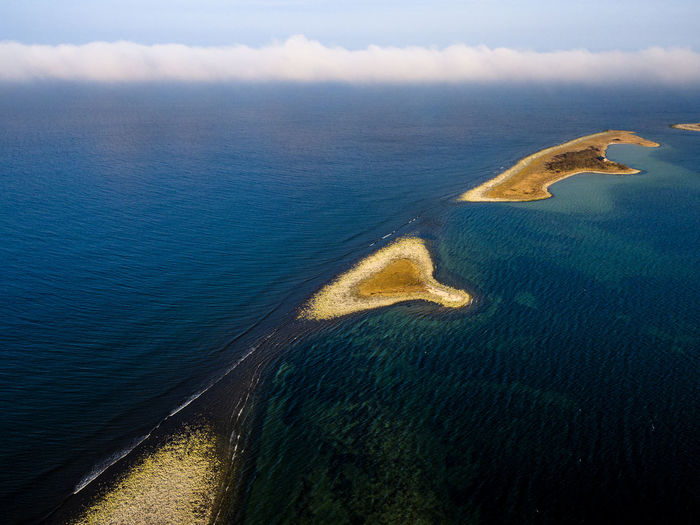 Aerial View Of Baltic Sea Against Sky