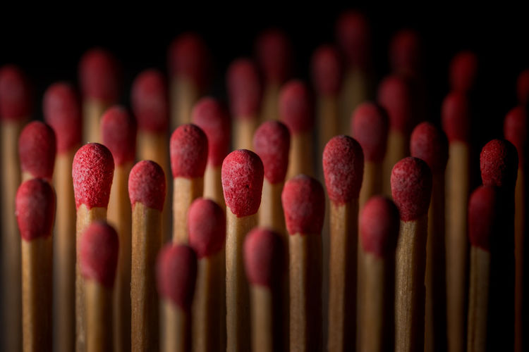 Full frame shot of matchsticks