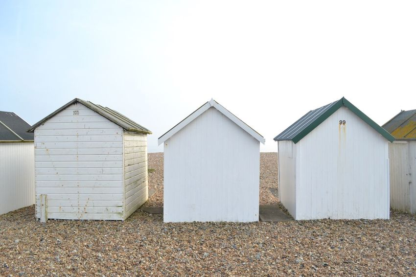 Beach Beach Houses  Stones Sussex Coast