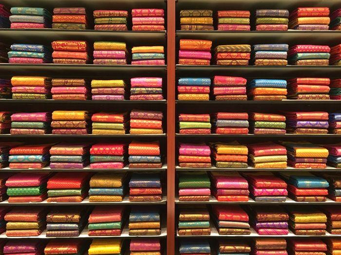 Saree Kanchipuram Silksaree Silk Display Colours Zoom Into Picture Beautifully Organized