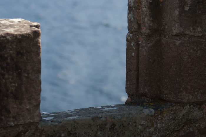 Scotland UrquhartCastle Architecture Close-up Day Focus On Foreground Loch Ness Nature No People Outdoors Sea Water