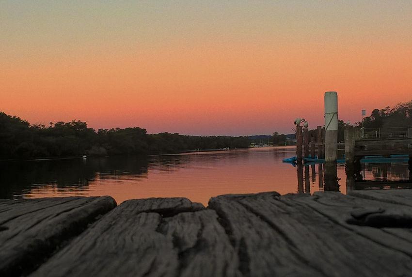 Stunning Sunset ;) EyeEmNewHere Sunset Water Lake Pier Outdoors Sky Nature Beauty In Nature The Week On EyeEm