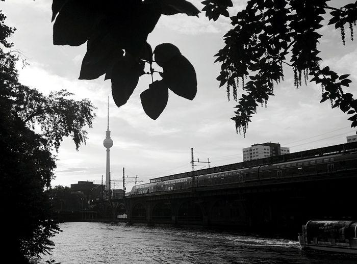 Day 337 - C-base chilling Berlin Blackandwhite Spree Water Train Fernsehturm Boat Cbase 365project 365florianmski Day337