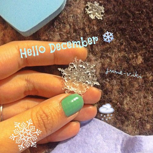 Nail Polish Winter June_viki My Work Ice Ice Beauty Hello Hi December Decoration Love Cute defense clove cute