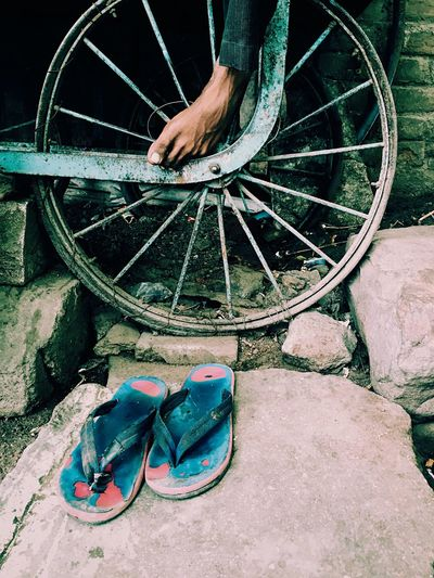 Always ready to wear and walk alone. One Person Outdoors Real People Day Human Leg People First Eyeem Photo Ankit Panchal Photography