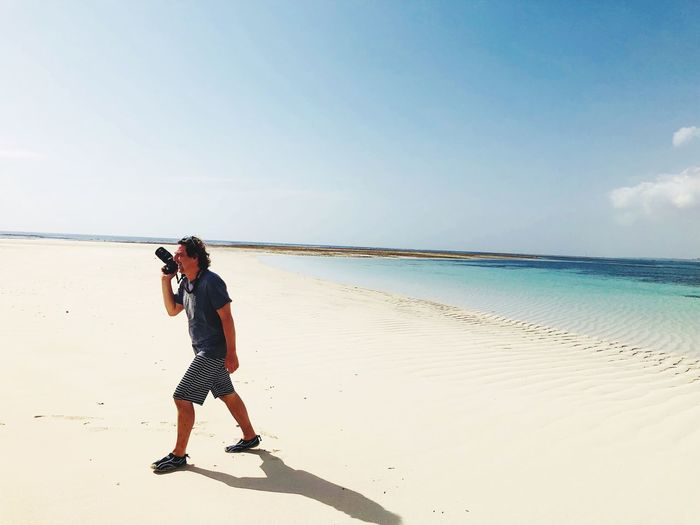 EyeEm Selects Sea Beach One Person Full Length Sky Photographing