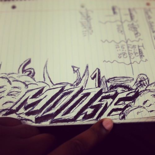 Doodling at work lol.. All6 'sand7's Thatsartworkrightthere Lovemynickname Moose Grafitti