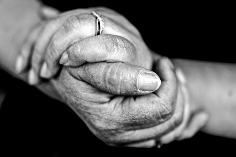 Adult Black Background Close-up Day Human Body Part Human Finger Human Hand Human Skin Indoors  Men One Person People Real People Ring Studio Shot Wrinkled