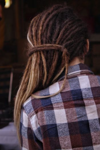Rear View Human Hair Long Hair Hairstyle Dreadlocks Women Uniqueness EyeEm Best Shots Eye4photography  Natural Light Street Photography India People Photography