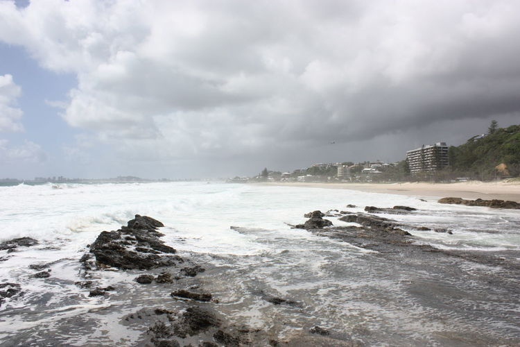 Storm Cloud Stormy Weather Grey Sky Cloudy Sky Sturm Bechview Waves And Rocks Wave Water