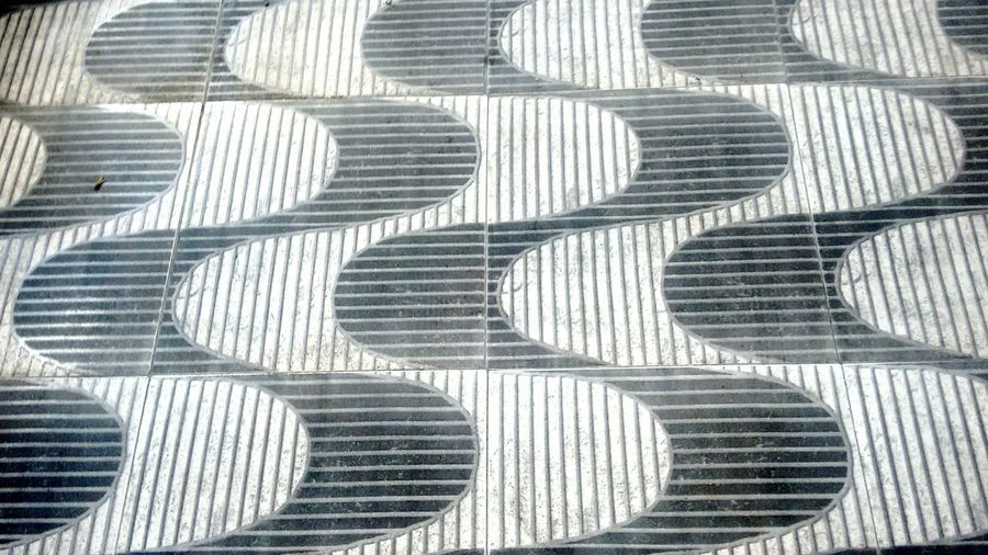 Copacabana Copacabana Calçadão Ondas Pattern Backgrounds Full Frame Repetition Day High Angle View Outdoors Textured  No People Close-up Shadow Zigzag Brushed Metal