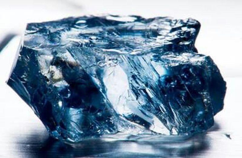 Rough Vivid Blue Diamond