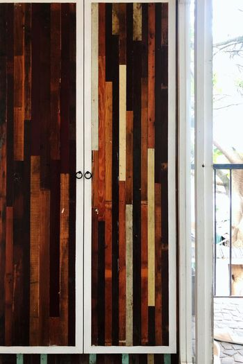 Window Architecture Day No People Built Structure Building Exterior Building Security Close-up Safety Glass - Material Protection Wood - Material Full Frame Pattern Outdoors Entrance Metal Door Sunlight