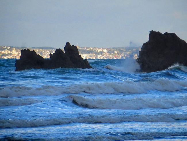 Beach Beauty In Nature Bleu Blue Blue Wave Bretagne Brittany Horizon Over Water Landscape Landscape_photography Mer Nature No People Outdoors Paysage Paysage De France Rock Rock - Object Sea Storm Tempête Tempête En Bretagne Water Wave Waves
