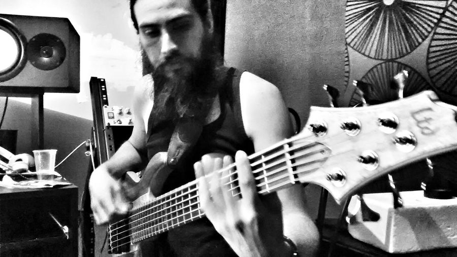 Tracking some bass! Monochrome LTD Alfredbass Beardbassplayer #lethalcreationbassplayer #lethalfan #lethalcreation #metalmexico