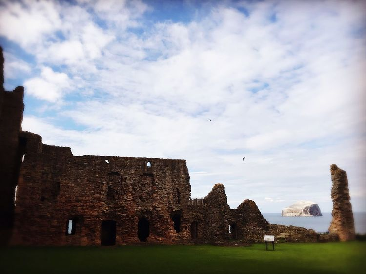 Tantallon castle Architecture Building Exterior History Sky Castle Old Ruin Bass Rock Sea And Sky Scottish site