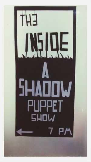 Our evening Shadow Puppet show Poster.