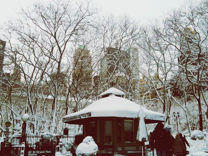 Bryant Park NYC Snow ❄ Snow Day EyeEm EyeEm Best Shots EyeEm Nature Lover Discover Your City IPhoneography IPhone Streetphotography Street Photography