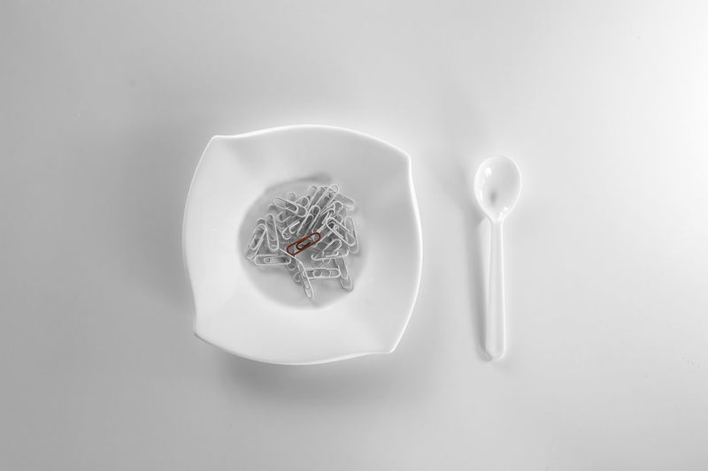 Directly above shot of ice cream in bowl on table