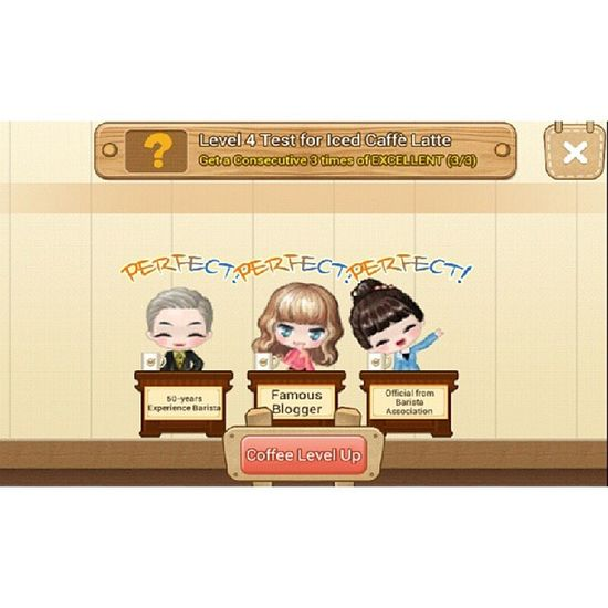 Iced caffe latte 4* LINE Linecoffee Linegame Ilovecoffee