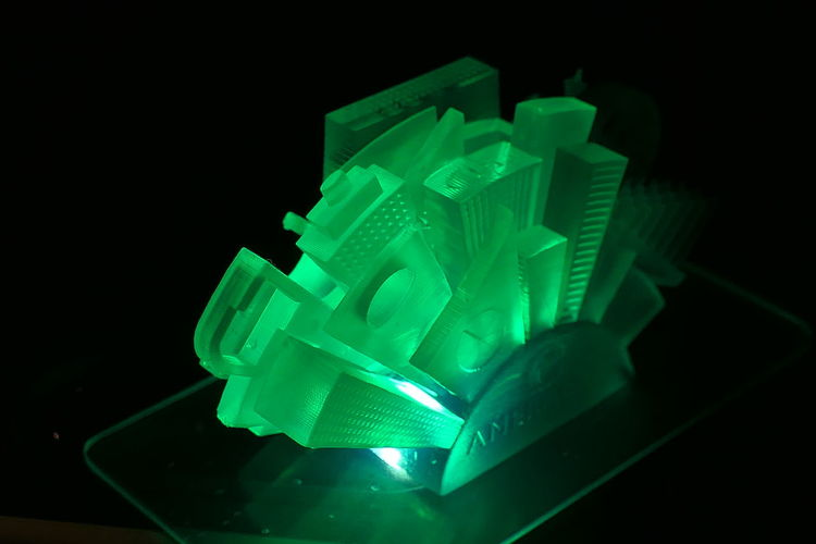 3d Printing 3d Printed Object Light Lamp Cityscape 3D Printed 3D Print Plastic Microscopic Details Tiny Model Miniature Model End Plastic Pollution Ireland Nano Technology Nano Structure Structure Black Background Innovation Illuminated Science Close-up Green Color Green Light Model - Object Fiber Optic Architectural Model