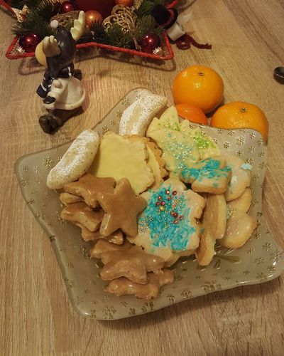 Christmas cookies Christmas No Filter Kekse Cookies Weihnachten Self Made Lecker Celebration Food