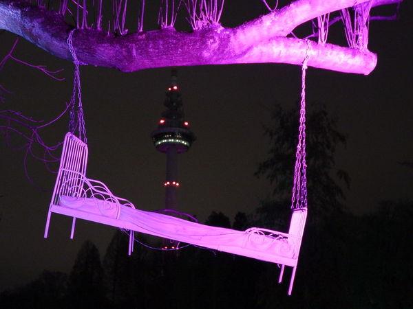 Good night MANNHEIM Bedtime Blue Dark Illuminated Low Angle View Luisenpark Night No People Outdoors Park Tower